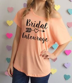 Bridal Entourage Slouchy off the Shoulder Tee by BrideAndEntourage