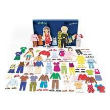 Magnetic Dressing Dolls - 80 Pieces. Repinned by playwithjoy.com. For more pretend play pins visit pinterest.com/playwithjoy