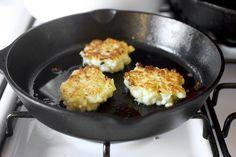 These were so delicious!  Smitten kitchen's flipped cauliflower clouds