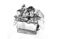 Mushroom Box A4 Giclée Art Print / Illustrated Archival Print