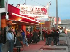 Red Iguana, Salt Lake City UT. Authentic Mexican Food.  Always a line at the door.