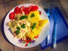 Květákový mozeček kucharkapro2.blogspot.com Fruit Salad, Food, Fruit Salads, Essen, Meals, Yemek, Eten