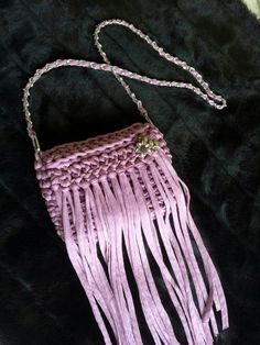 El Joyero de Marivi.: Bolso de trapillo con flecos