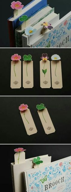[Creative appreciation] flowers bookmarks, so that your book out of the flowers. Clever design is convenient to collect and appropriate use. Hearted DIYer may wish to use this design to produce exclusive bookmarks. Diy Paper, Paper Art, Paper Crafts, Diy Marque Page, Diy And Crafts, Crafts For Kids, Cute Bookmarks, Paperclip Bookmarks, Paper Bookmarks