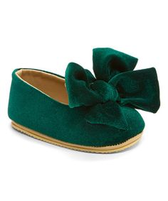 Look what I found on #zulily! Emerald Oversize Bow Crib Shoe #zulilyfinds