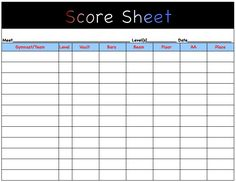 Cheerleaders Tryout Score Sheet  Spirit Event Coordiators
