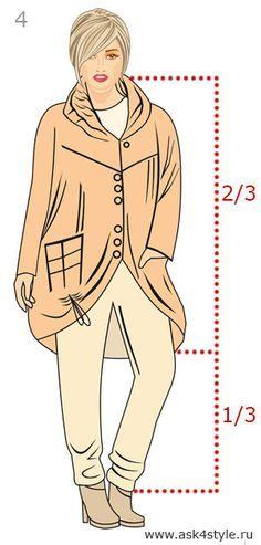 Пропорция в одежде 2/3 + 1/3 брюки