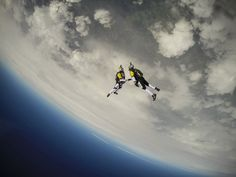 Fred Fugen and Vince Reffet, aka Soul Flyers, make history with their incredible Red Bull Skycombo proximity wingsuit flight over Mont Blanc, Europe's tallest mountain. Red Bull, Planeta Venus, Images Cools, National Geographic, Gopro, Cool Pictures, Cool Photos, Surf, Impressive Image