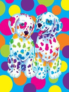 Art Print: Spotty and Dotty by Lisa Frank : 24x18in
