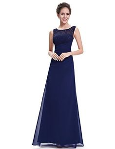 Ever Pretty Womens Floor Length Lace Evening Dress 6 US Navy Blue >>> Check out the image by visiting the link.