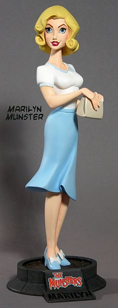 """The Munsters: Marilyn (Pat Priest) — 9.25"""" (23.5cm) tall"""