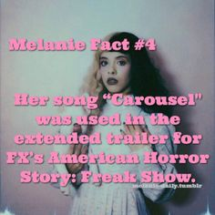 Another Melanie fact for you guys! Melanie Martinez Facts, Melanie Martinez Music, Crybaby Melanie Martinez, Bride Of Frankenstein Costume, Movie Hacks, Famous Memes, Queen Pictures, Drama Memes, Funny Video Memes
