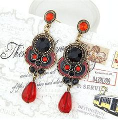 Vintage Long Ethnic Earrings for Women Statement Boucle d'oreille Brincos Jewelry Pendientes Mujer Moda Accessories