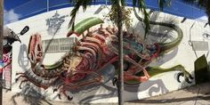 Nychos in Miami, USA #awesomeurbanart #beststreetartists #graffitiart #freewalls #urbanartists #streetart #urbanart #art