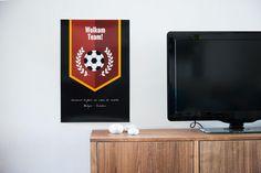 Hang een poster op met het programma van de avond! #EK #party #voetbal #feest #theme #Belgium #Beaublue
