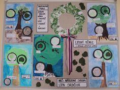 Český národní strom - Lípa srdčitá - skupinová práce Diy And Crafts, Homeschool, Gallery Wall, Frame, Projects, Picture Frame, Homeschooling, Frames