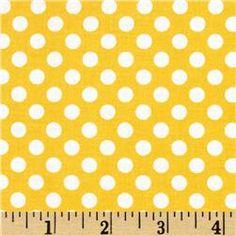Fabric - Riley Blake Dots Small Yellow