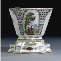A Sèvres jardinière and stand (vase Hollandais) circa 1760