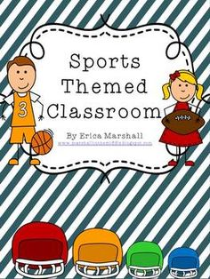 """Click """"download preview"""" to see MOST of the files listed below. This Bright & Colorful Sports Themed Classroom is a must-have for any grade level! Many items are EDITABLE! You can type into the labels with your students' names and PRINT! This file is a zip file, so you will need to extract the file to view the contents of the pack. Sports Theme Classroom, Classroom Setup, Kindergarten Classroom, School Classroom, Future Classroom, School Fun, Team Theme, Sport Theme, Sports Day"""