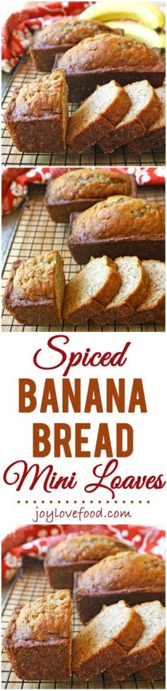 Spiced Banana Bread Mini Loaves – a slice or two of these delicious, easy to make, little loaves is great for breakfast, a snack or sweet treat anytime.