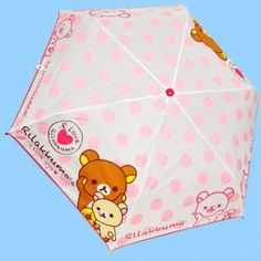 San-X Rilakkuma Relax Bear Compact 3-Section Umbrella 32.7