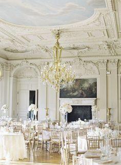 Elegant + glamorous Rosecliff Mansion wedding: http://www.stylemepretty.com/rhode-island-weddings/newport-ri/2016/01/13/romantic-glamorous-newport-wedding-at-rosecliff-mansion/   Photography: Cly By Matthew - http://www.clybymatthew.com/