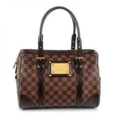 This is an authentic LOUIS VUITTON Damier Ebene Berkeley. This chic structured tote is crafted of Louis Vuitton signature damier checkered canvas in ebene brown.