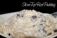 Stove Top Rice Pudding - honestly the best, easiest rice pudding I've ever made! !!!!!