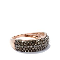 A delightful Ring, made of 9K Rose Gold featuring 1.02cts of captivating Champagne Diamonds from Africa.