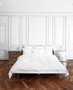 Pariser Apartment, Hauptschlafzimmer, Wohnungen In Paris, Pariser Chic,  Traumwohnung, Schlafzimmer Ideen, Ornamentik, Zuhause, Holzvertäfelung, Haus