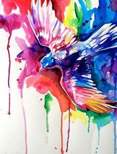 Rainbow Bird by Lucky978.deviantart.com on @deviantART