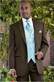 Black Tux With Tiffany Blue Vest And Tie Im Getting White Tux