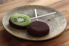 Barefeet In The Kitchen: Chocolate Covered Kiwi Popsicles