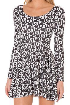 Fresh Prints Long Sleeve Skater Dress (WKNDR - WW ONLY $99AUD) by Black Milk Clothing