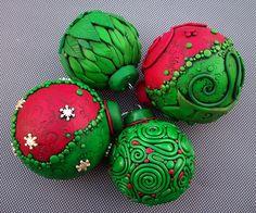 Polymer+Clay+Christmas+Balls | Christmas Ornaments | Flickr - Photo Sharing!