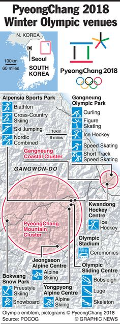 February 9-25, 2018 -- South Korea is hosting the 2018 Winter Olympic Games.