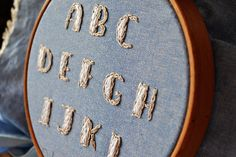 ABC embroidery alphabet | embroidered in side-to-side stitch… | Flickr