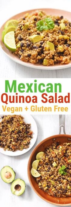 This recipe is one of my favourite ways to have quinoa. It's super simple, really delicious and so good for you! #mexican #quinoa #salad #healthy #food #recipe #dinner #lunch #vegan #glutenfree #cleaneating