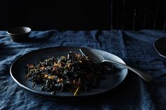 Suzanne Goin's Slow-Cooked Cavolo Nero (a. Tuscan Kale) Recipe on How To Cook Kale, How To Cook Eggs, Kale Recipes, Side Dish Recipes, Clean Eating Dinner, Food Dishes, Side Dishes, Food 52, Vegetable Dishes
