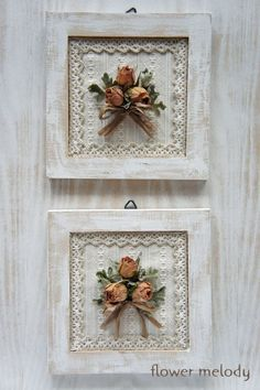 Foto – dried Rose's made into a frame for Rebekahs BIRTHDAY Wohnzimme… - Wohnaccessoires Ideen Manualidades Shabby Chic, Diy Y Manualidades, Shabby Chic Crafts, Shabby Chic Decor, Vintage Crafts, Flower Crafts, Flower Art, Dried Flowers, Paper Flowers