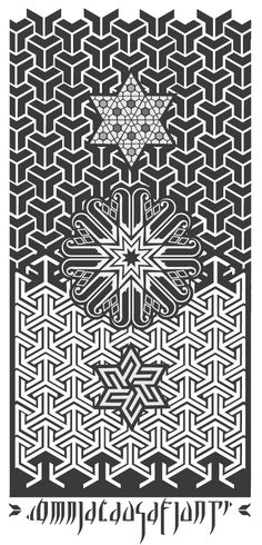 """This is the project matrix for a painting on wood. Soon I will post the result. The text at the bottom is """"Omnia Causa Fiunt"""" meaning: everything happens for a reason #inlay, #illustration, #ornament, #pattern, #ancient art"""