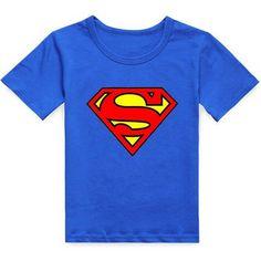 Stylish Round Neck Short Sleeve Cartoon Superman Pattern T-Shirt... £3.85