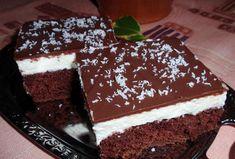 Kokosové řezy - krémové s polevou - Recepty.cz - On-line kuchařka Cake Decorating, Food And Drink, Decorations, Cakes, Cake, Decoration, Pastries, Decor, Torte