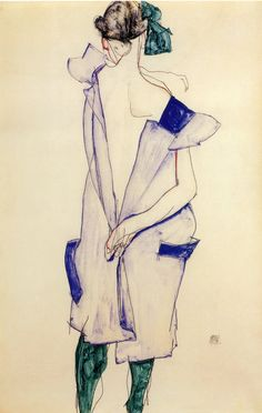 The Art of Egon Schiele. Standing Nude in by DaVinciArtPrints