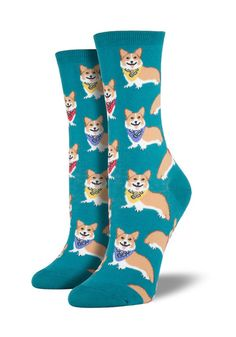 5149e3c92e8 SOCKSMITH Smiling Corgi With Bandana Socks
