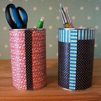 Washi Tape Desk Accessories