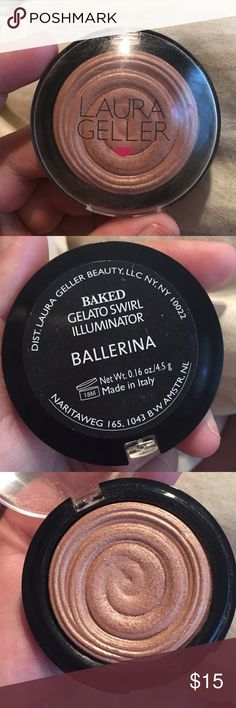 Laura Geller Swirl Illuminator Laura Geller Illuminator in Ballerina! Beautiful I just bought it when Gilded honey was sold out and I find its wrong for my skin tone! Lightly used and properly sanitized! Feel free to ask for special listing including other things from my closet! Makeup Luminizer