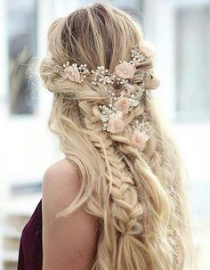Blonde hair braid