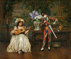Jules Worms Musical Interlude-Woman and Harlequin