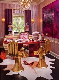 inspiration pour le bureau à la maison / home office inspiration - look at those chairs!!!